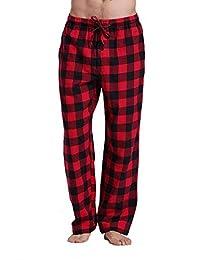 CYZ Men's 100% Cotton Flannel Plaid Pajama Pants