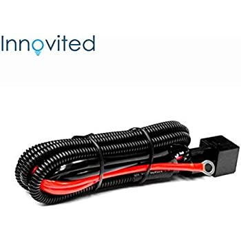 innovited universal relay wiring harness for all hid single kit h1, h3, h4,  h7, h8, h9, h10, h11, h13, 9004, 9005, 9006, 9007, 5202, 880, 884