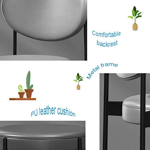 HTL Chaises de Bureau Vert Pu Chaise À Dîner En Cuir, Rembourré Moderne Accent Leisure Side Vanity Chair Noir Metal Frame, Comme Pour Living Room Club de Clients [Hauteur 83Cm]
