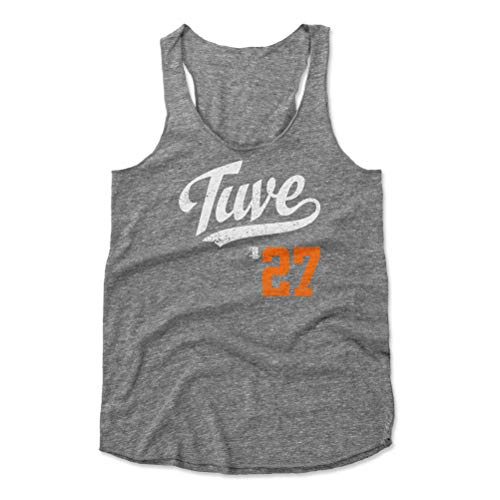 500 LEVEL Jose Altuve Women's Tank Top Medium Heather Gray - Houston Baseball Women's Apparel - Jose Altuve Tuve Players Weekend O WHT ()