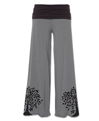 Soul Flower Women's Tree Organic Flow Pants (X-Large, Slate)