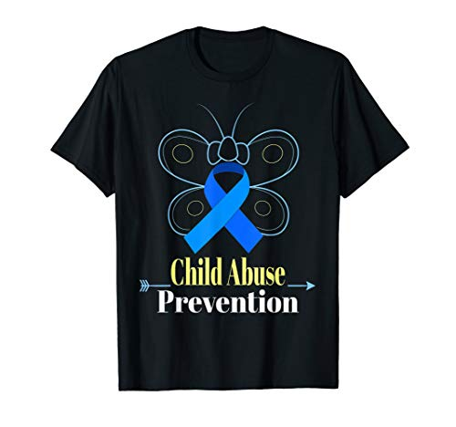 - Child Abuse Awareness Shirts Butterfly Blue Ribbon Shirt