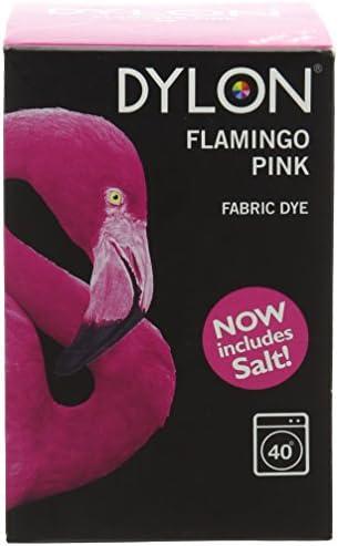 Dylon Färbemittel für die Waschmaschine, Pulver, Burlesque Red (rötlicher Farbton) flamingo pink