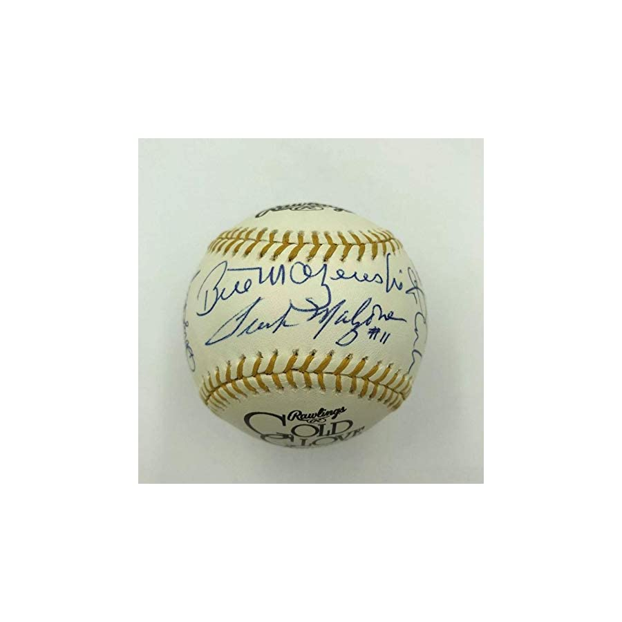 Nice Gold Glove Winners Signed Baseball 19 Sigs Gary Carter Bill Mazeroski Autographed MLB Gloves