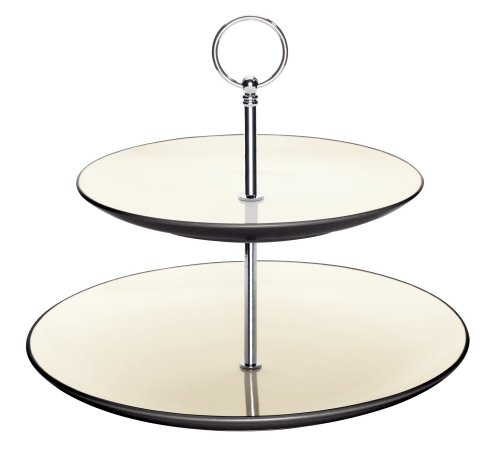 - Noritake Colorwave Graphite Two Tier Hostess Tray