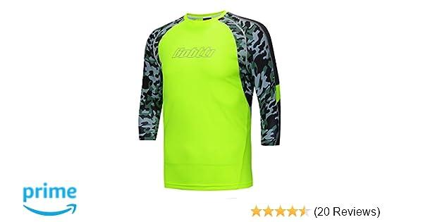 34938adc1 Amazon.com   Bpbtti Men s MTB BMX Mountain Bike Shirt 3 4 Sleeve Biking  Cycling Jersey - Moisture-Wicking and Breathable   Clothing