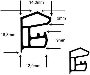 5m-Stahlzargendichtung T/ürdichtung WZ 1118 in Grau Weiss Farbe Grau