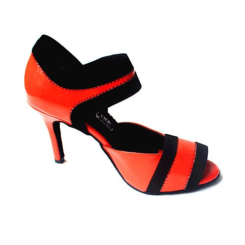 Shoes T Dance Customized Women's Heel Leatherette Q Red Ballroom Red T qwqZf6