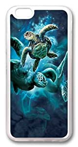 iphone 6 plus Case,Sea Turtle Collage TPU Silicone Rubber Case Cover for iphone 6 plus 5.5 inch Transparent wangjiang maoyi