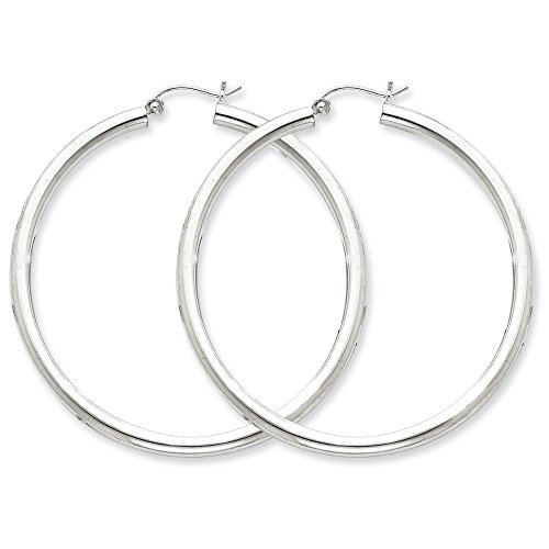 - Designs by Nathan 925 Silver Classic Seamless Tube Hoop Earrings, Choice of Sizes