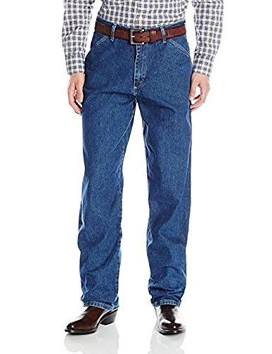 - Wrangler Men's Carpenter Denim Jeans W/Multiple Tool Pockets - Genuine Jean (35X29, Dark Wash)