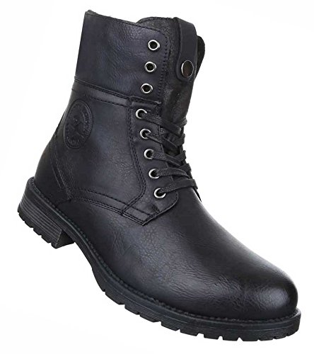 Schuhe Lederoptik Schlupf-Stiefel ybZiqt
