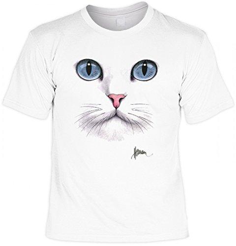 T-Shirt Motiv - Katzengesicht - Super Idee für echte Katzen Fans ! - Auch als Geschenk ideal !