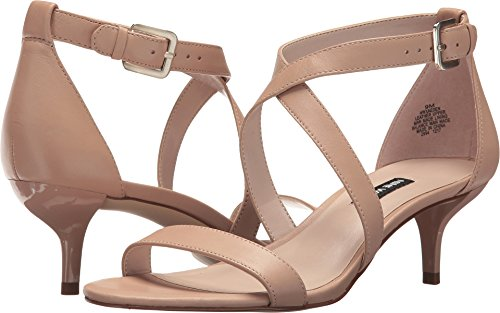 (Nine West Women's Xaeden Strappy Heel Sandal Light Natural Leather 9 M US)