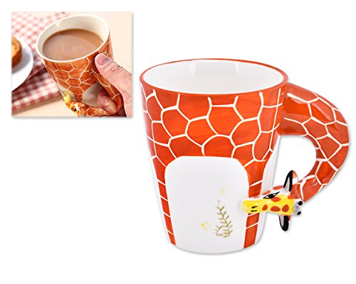 Ace Select Coffee Cup Pure Hand-painted 3D Giraffe Coffee Mug Ceramic Mug Birthday Gift ()