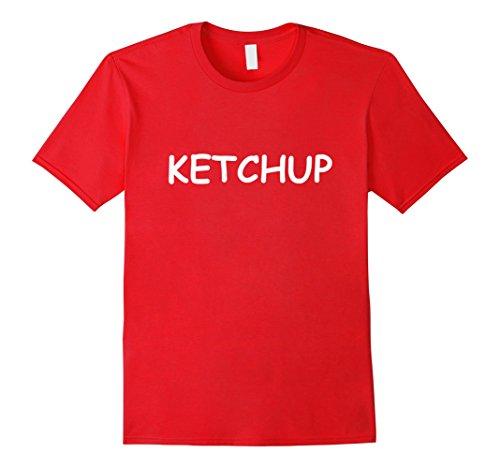 Mens Ketchup TShirt: Best Ketchup Mustard Halloween Costume Shirt XL Red -