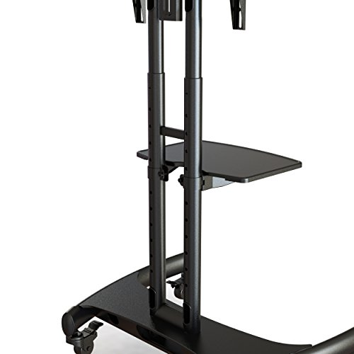 Elitech Rolling Tv Cart Mobile Tv Stand For Up To 70 Inch