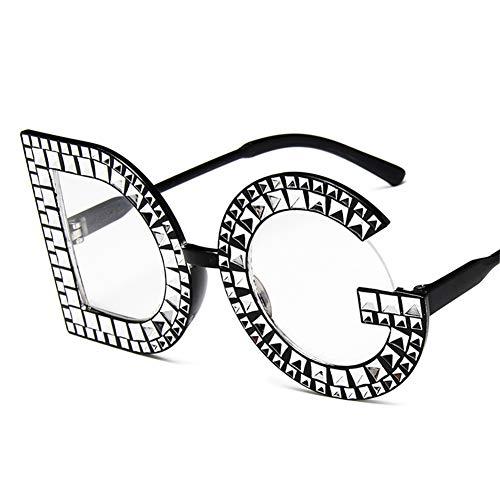 Ksone Fashion Crystal Diamond Round Oversized Sun Glasses Brand Luxury DG Sunglasses Ladies Fashion Sunglasses for Women Party (5)