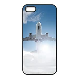 ALICASE Diy Customized Hard Case Airplane for iPhone 5,5S [Pattern-1]