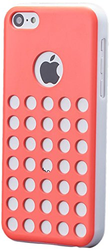 iCues Apple iPhone 5C    Löcher Case Pink   [Display Schutzfolie Inklusive]  Schutzhülle Hülle Cover Schutz