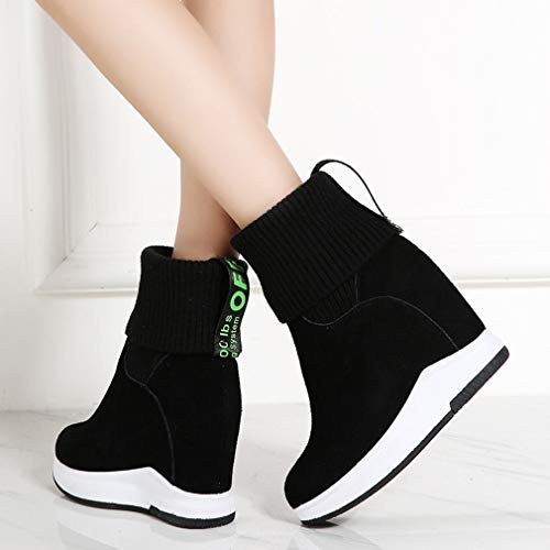 Primavera Para Zapatos Casuales Otoño Botas Al Yan Elásticos Aire Zapatillas Mujer Libre Negro De Botines Caminar Altas dtxzwqP
