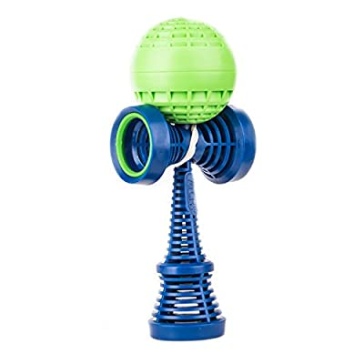 YoYoFactory Catchy Air Kendama- Purple and Green: Toys & Games