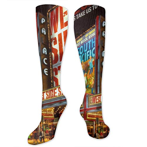 Times Square Theater District Men & Women Knee High Socks Soft Boot Socks Cosplay Socks For Party Halloween School