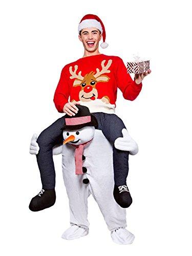 Carry Me Piggyback Ride On Novelty Snowman Mascot Fancy Dress Adult (Piggyback Costume Snowman)