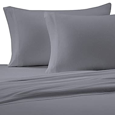 Brielle Cotton Jersey Knit (T-Shirt) Sheet Set, Queen, Grey