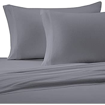 Beau Brielle Cotton Jersey Knit (T Shirt) Sheet Set, King, Grey