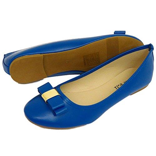 Forma Scarpe Punta 3 Donna Lavoro Da Comfe Di Balletto Scuola 8 A Dolly Piatta Blu vHnTvCrqxw
