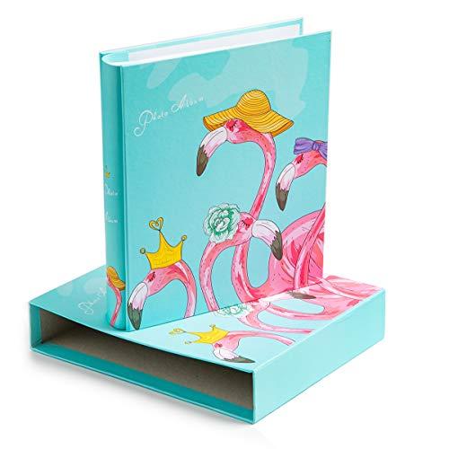 [해외]Edian Baby Photo Album 4x6 Inches Family Small Photo Albums Holds 200 Photos (Flamingo) / Edian Baby Photo Album 4x6 Inches Family Small Photo Albums Holds 200 Photos (Flamingo)