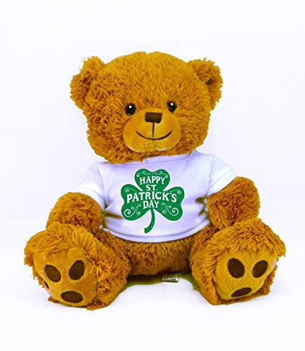 St Patrick's Day Limited Edition Plush Toys (Happy Tan Bear) -