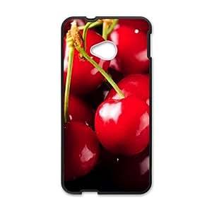 Fresh red Cherry nature style fashion phone case for HTC One M7 wangjiang maoyi