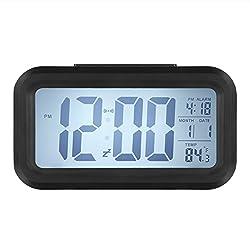 LUOYIMAN Smart Backlit Digital Alarm LED Clocks, Black