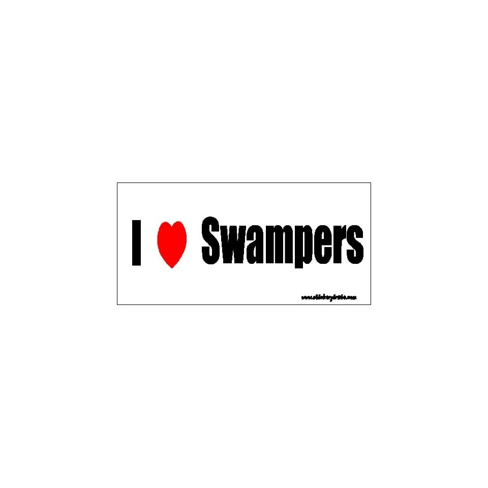 I Love Swampers Bumper Sticker / Decal
