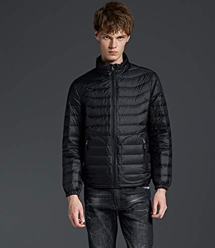 Jacket Men's Down Weight Medeshe Black Coats Winter Light XxF4wnzO