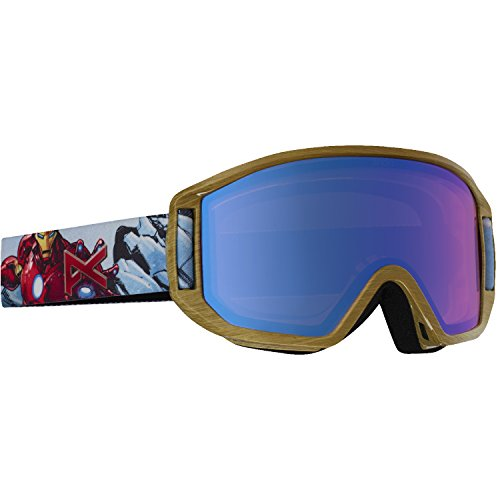 Anon Youth Relapse Jr Goggles, Ironman/Blue Amber, One - Goggles Iron Man