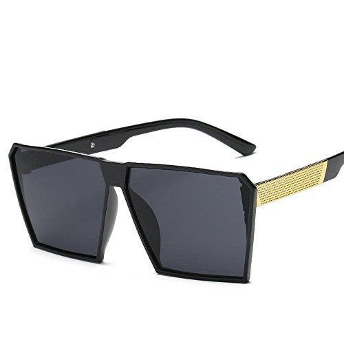 Aoligei Actuel grand cadre rétro carrés lunettes de soleil boîte de lunettes de soleil wEJP5j