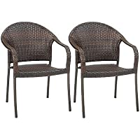 Barrington Wicker Stacking Chairs (Set of 2)