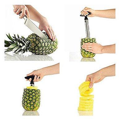Todwish Küche aus Edelstahl leicht Ananas-Frucht Corer Schneidmaschine