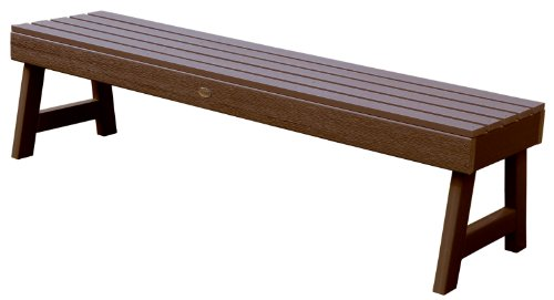 4' Backless Bench (Highwood Weatherly Backless Bench, 4-Feet, Weathered Acorn)