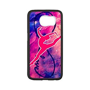 Fayruz- Personalized Protective Hard Textured Rubber Coated Case Cover for Samsung Galaxy S6 - Gymnastics -S6O875