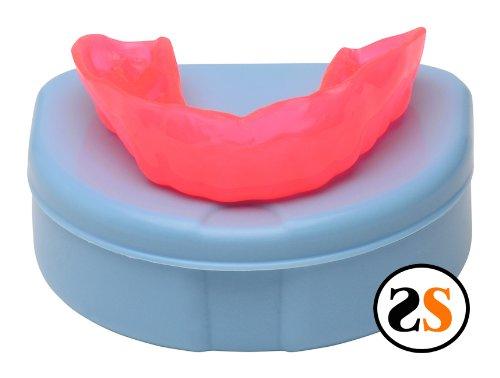 Neon RED Custom Professional Sports Mouth Guard by SportingSmiles