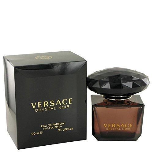 (Crystal Noir by Versace Eau De Parfum Spray 3 oz for Women - 100% Authentic)