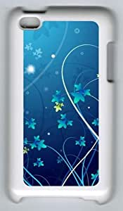 Abstract Cool Flowers Polycarbonate Hard Case Cover for iPod Touch 4/Apple iPod 4 ¡§C White
