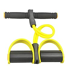 2016 New Fitness Exercise Pull Rope Rope Set Elastic Training Exercisers Equipment ON TV Pilates Resistance Bands Equipment (Yellow)