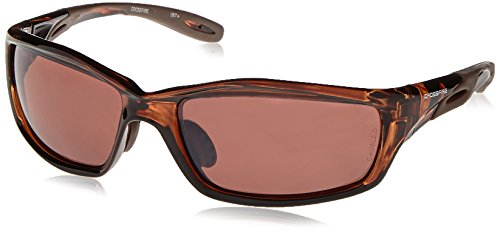 (Crossfire 21126 Infinity Safety Glasses HD Brown Polarized Lens - Crystal Brown Frame )