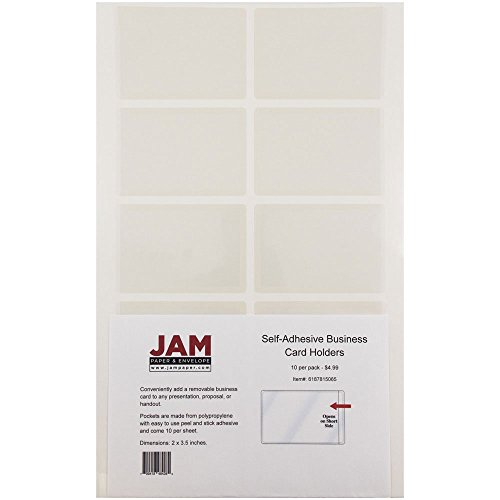 JAM Paper Business Card Holders - Self Adhesive Closure - 2