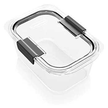 Rubbermaid Brilliance Food Storage Container, Medium Deep, 4.7 Cup, 100% Leak-Proof, Plastic, Clear